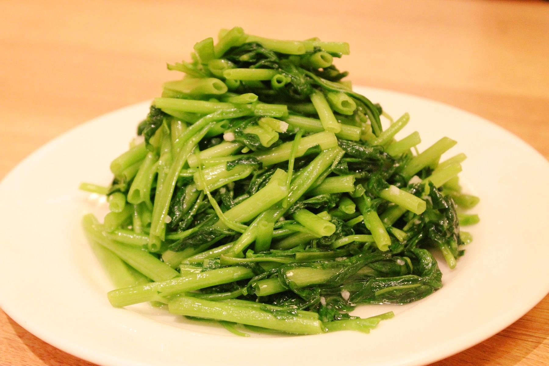 鼎泰豊の空芯菜