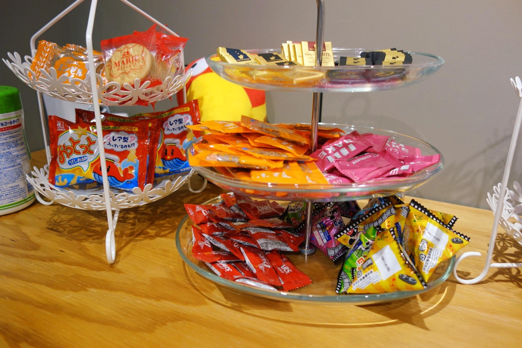 MORINAGA Villageのお菓子