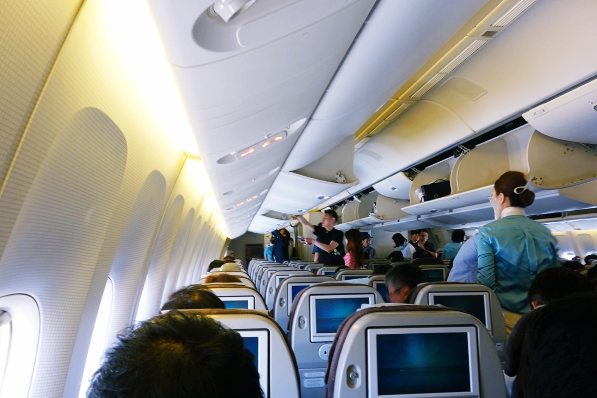 大韓航空 機内の様子