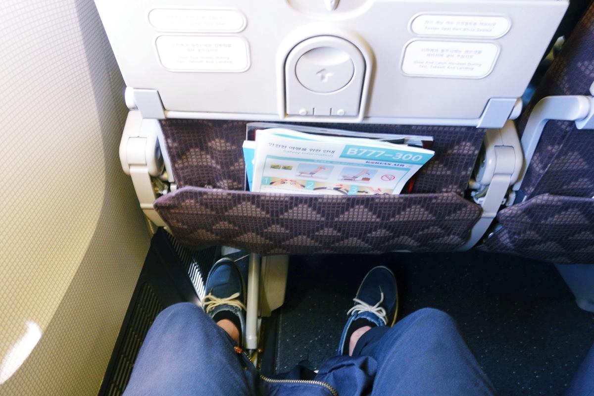 大韓航空 席の広さ