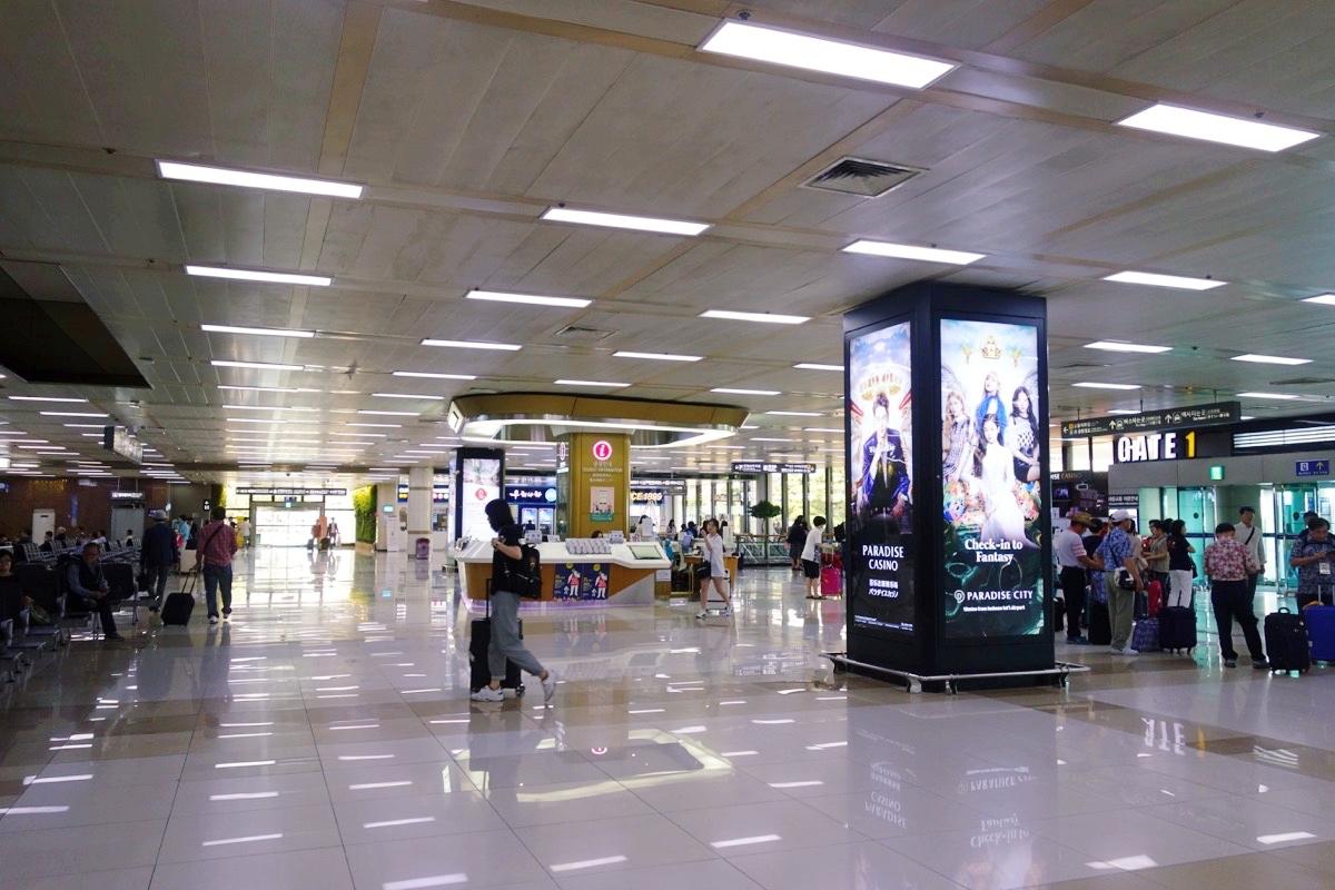 金浦空港の到着フロア