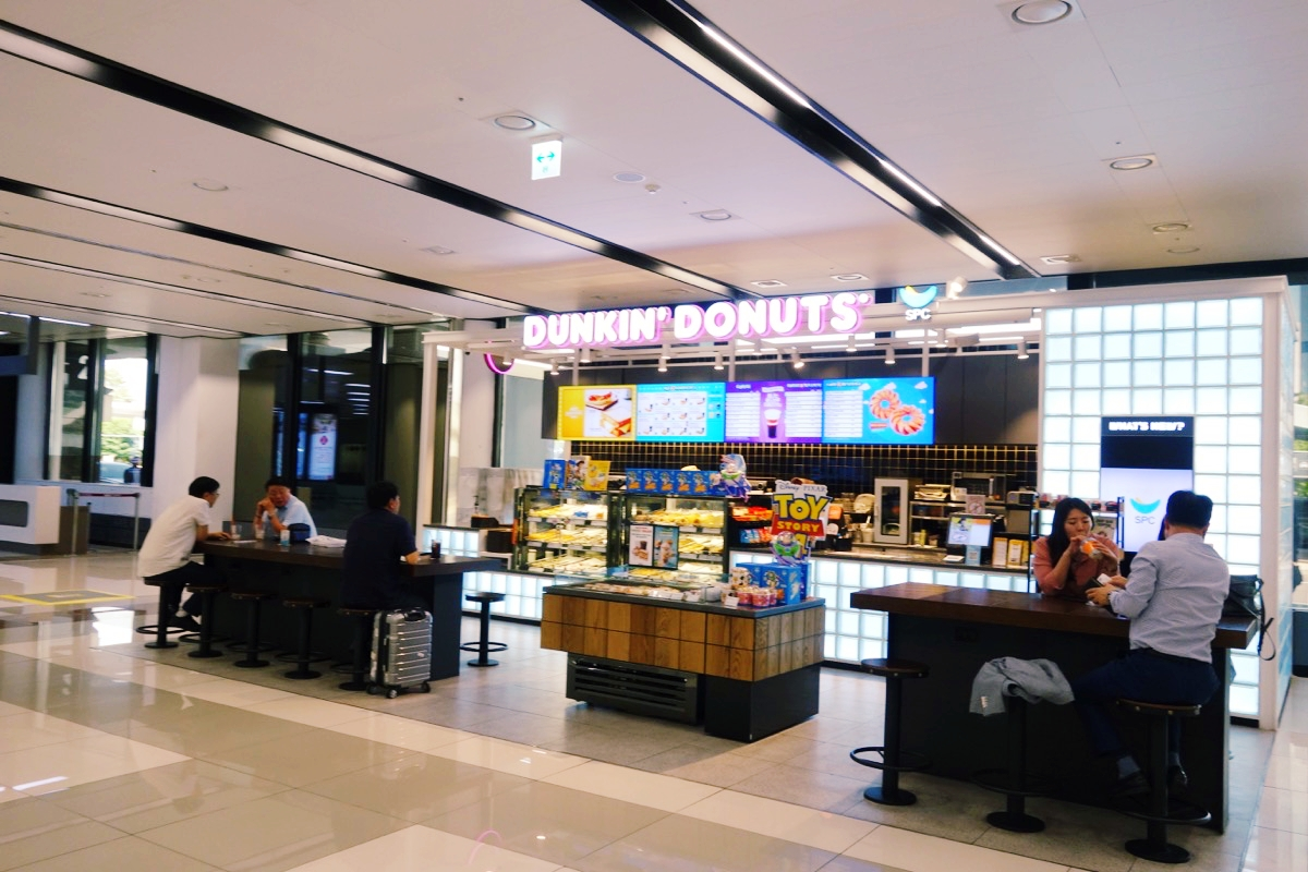 金浦空港のカフェ