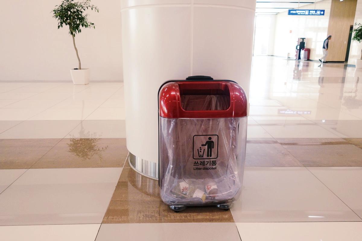 金浦空港のゴミ箱