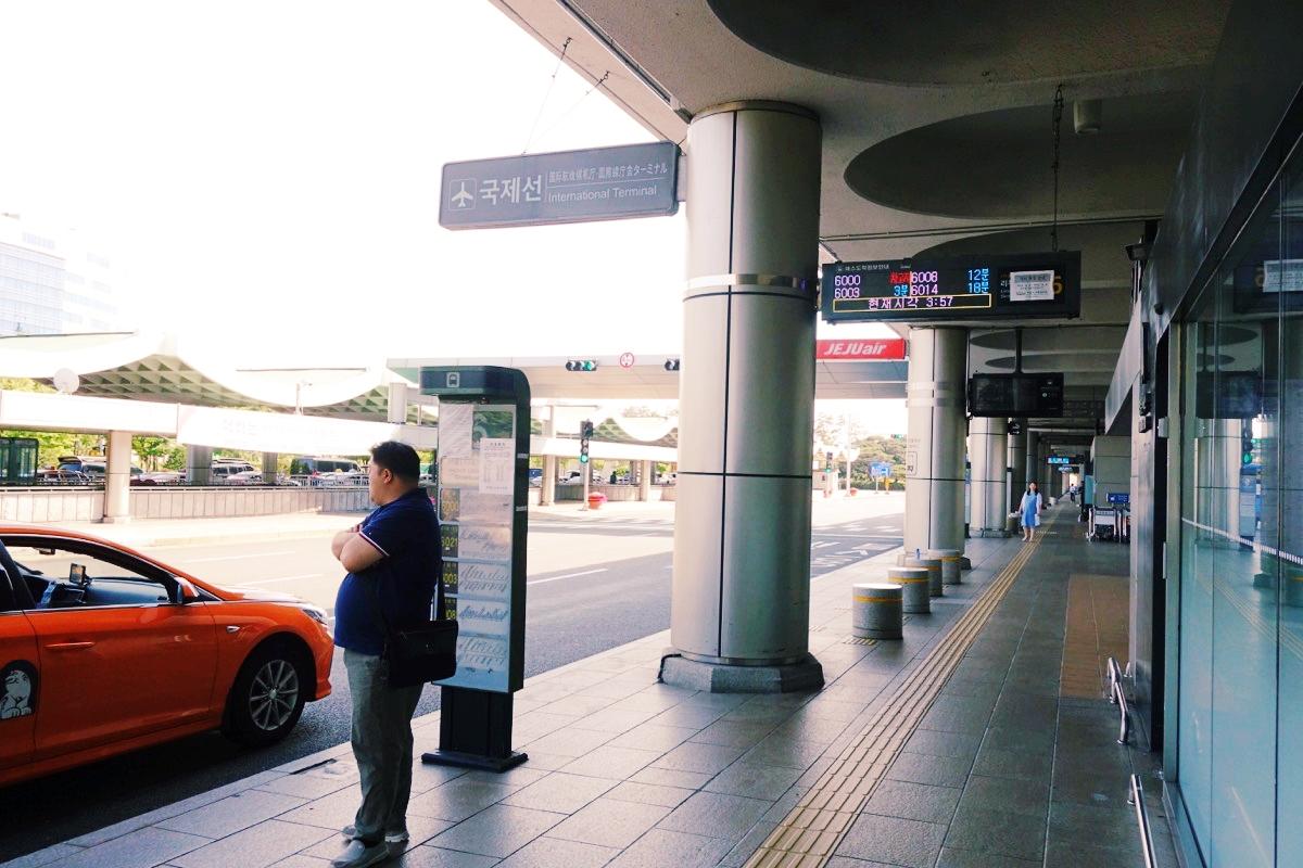 金浦空港のバス乗り場