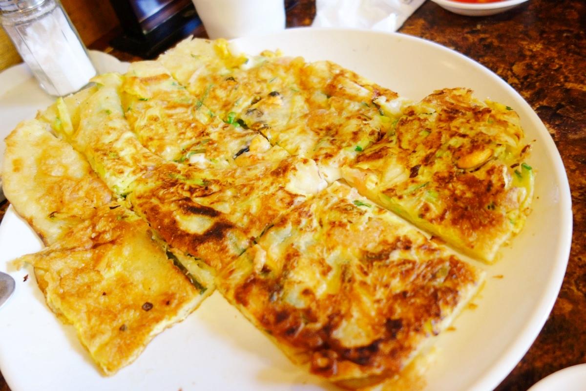 土俗村 蔘鶏湯の韓国チジミ