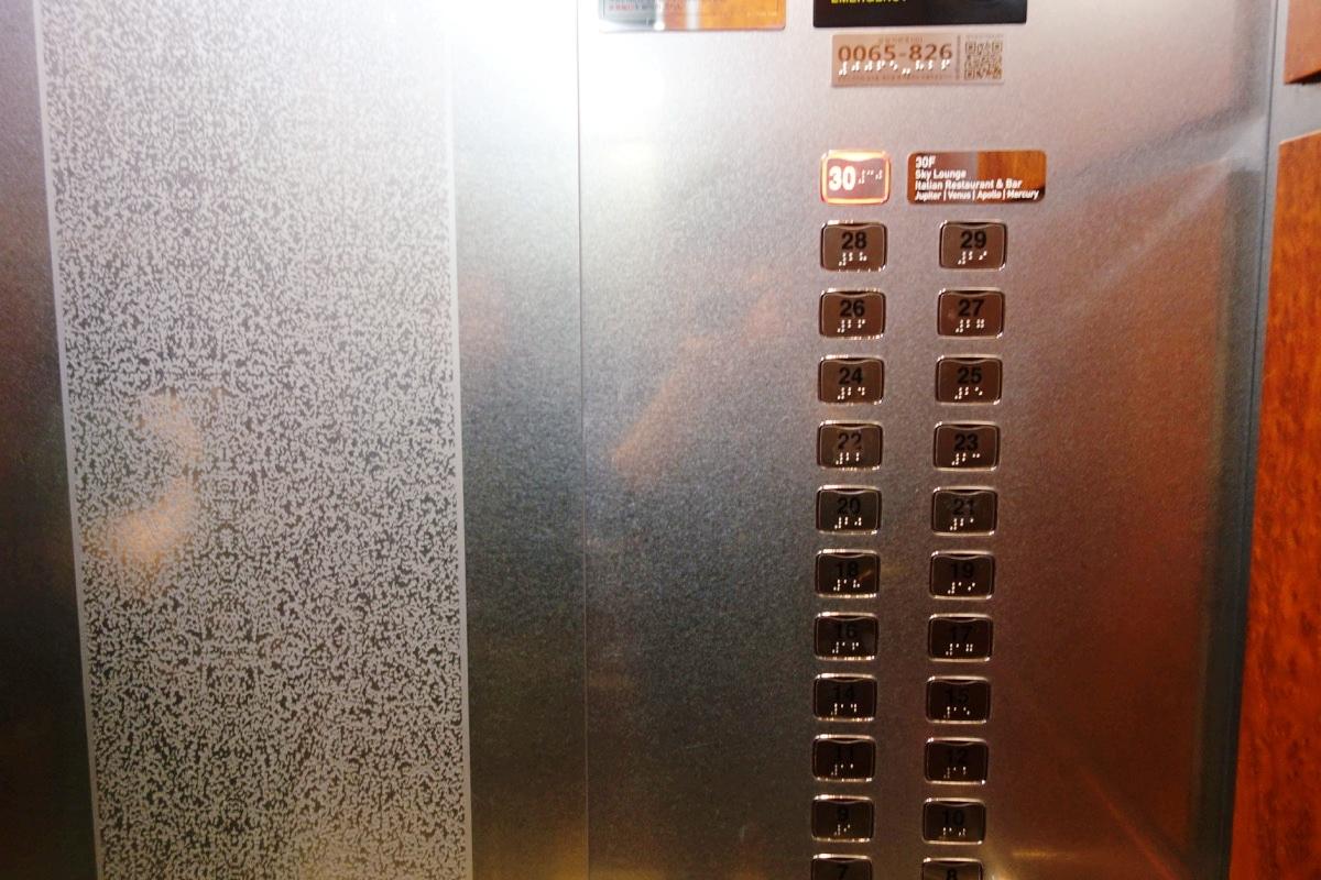 インターコンチネンタルCOEXのエレベータ