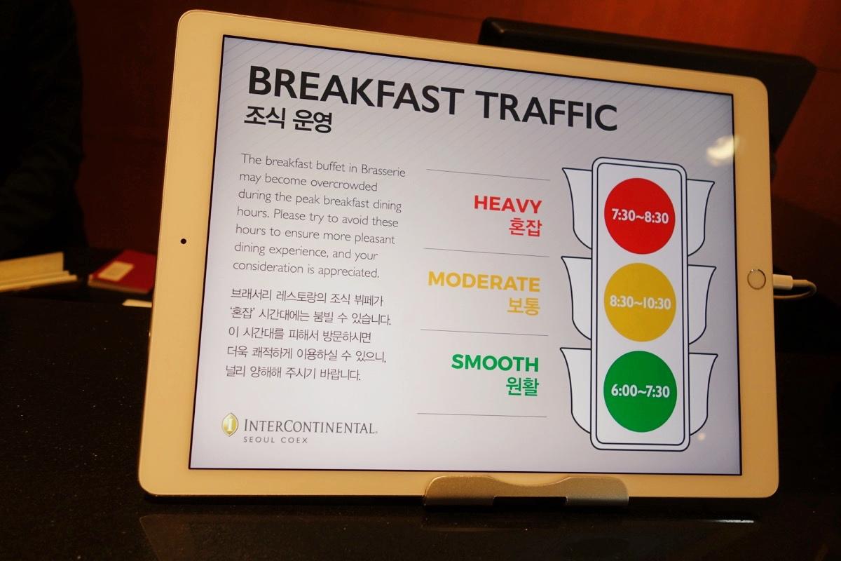 インターコンチネンタルCOEXの朝食