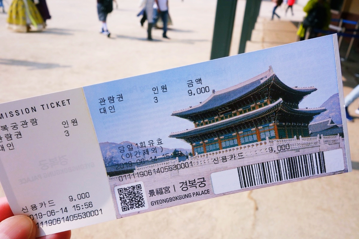 景福宮のチケット