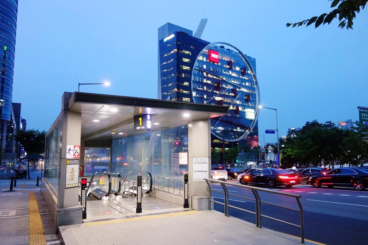 奉恩寺駅の入り口