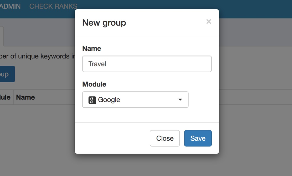 Serposcopeのグループ作成方法