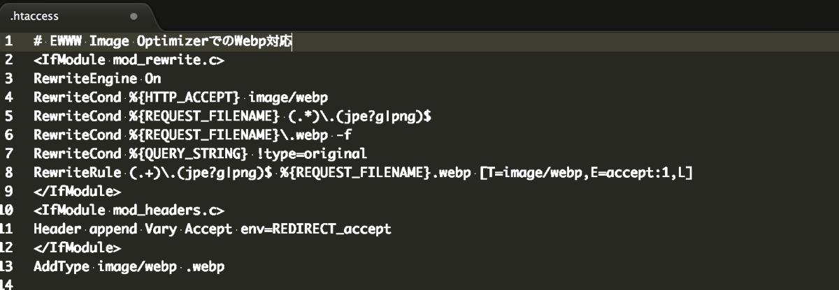 wordpressの.htaccessファイル