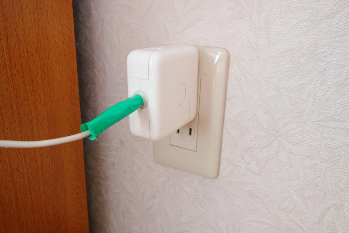 奄美ロングビーチの宿泊スペースの電源