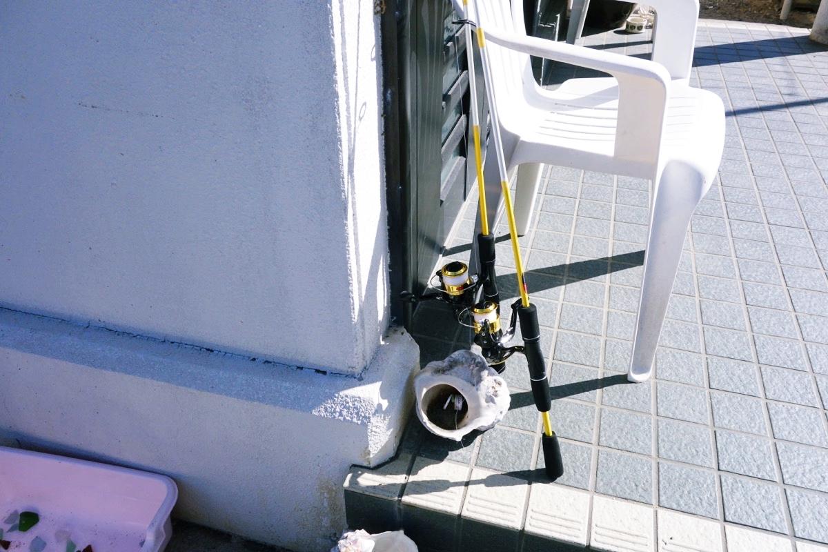 奄美ロングビーチの釣り竿