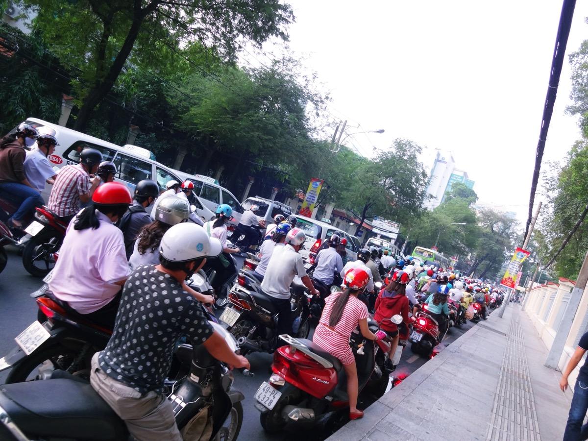 ホーチミンの交通渋滞