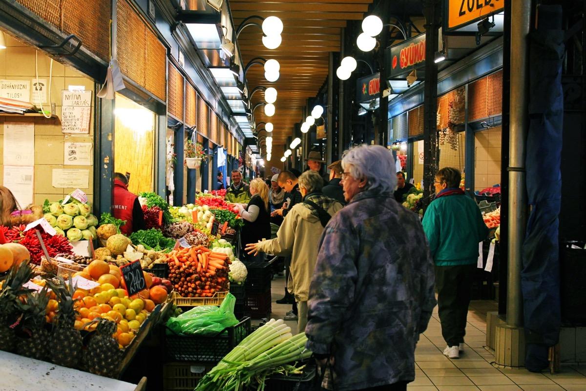 ブタペストのマーケット