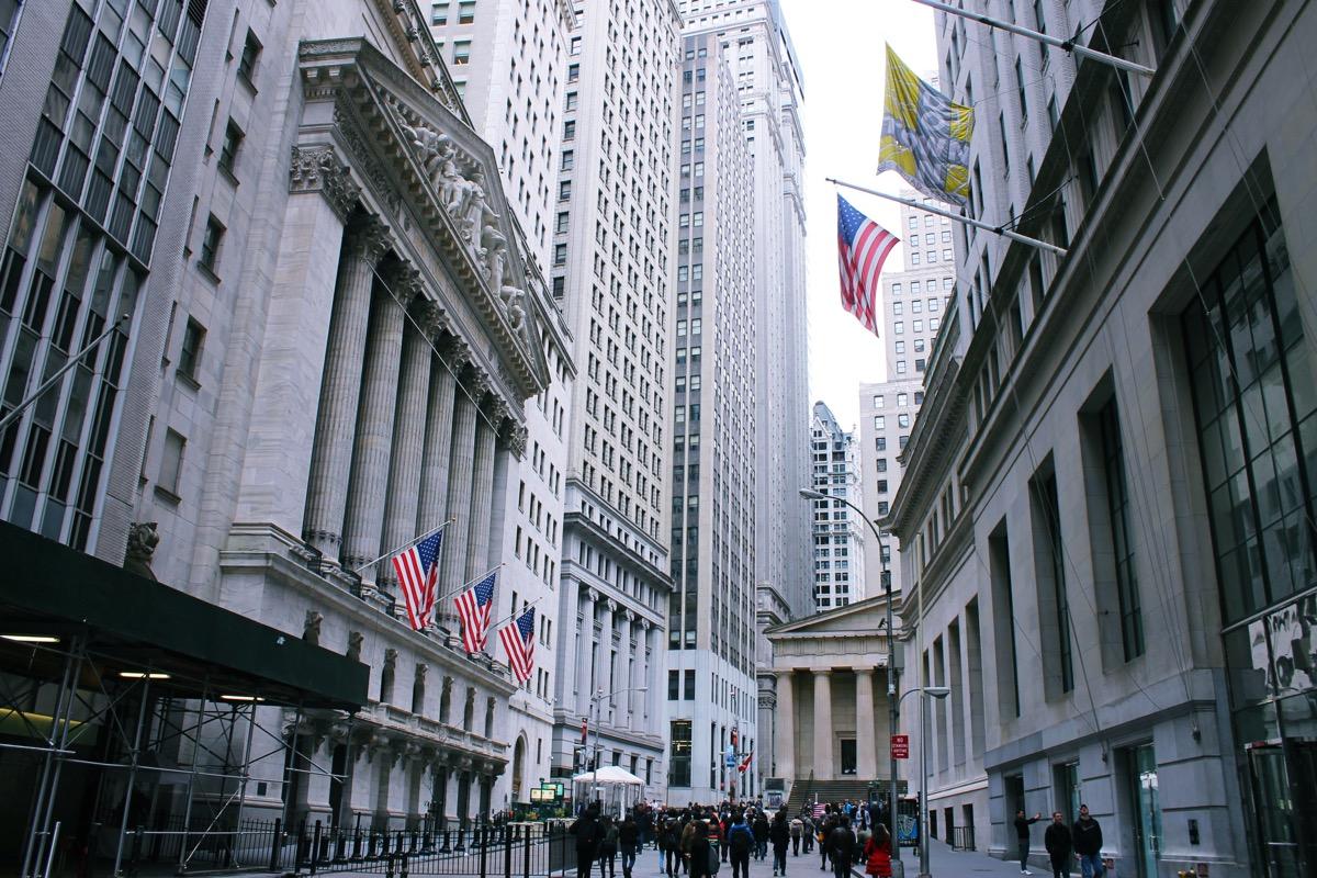 ニューヨークの金融街