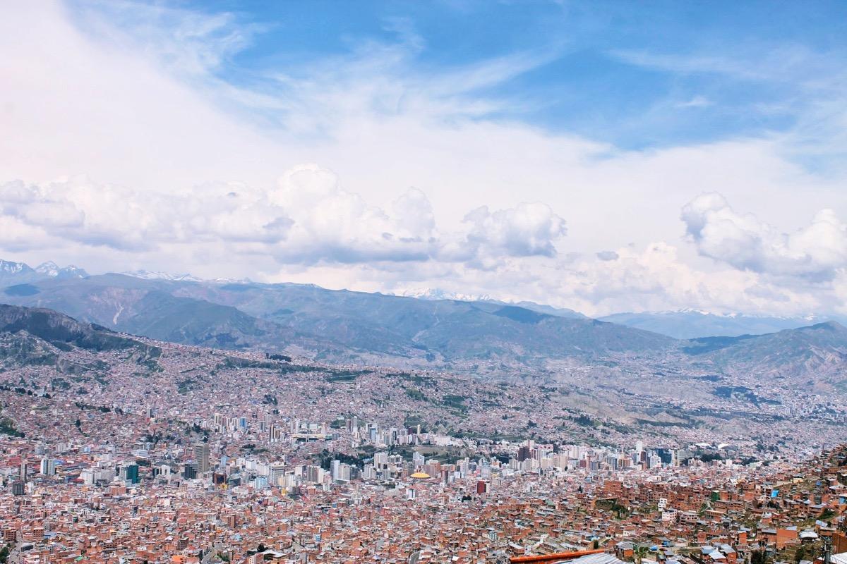 ボリビア最大の都市 ラパス